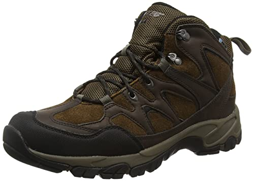 Hi-Tec Men's Altitude Trek Mid I Waterproof High Rise Hiking Boots, Brown (
