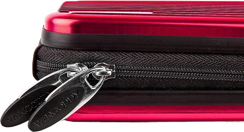 Vangoddy Pascal Mettalic Metal Case for Nikon 1 J5 Digital Cameras and Screen Protector Pink