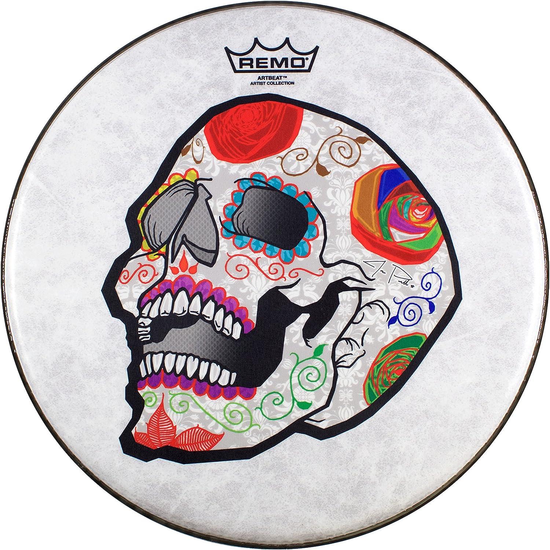 Remo ArtBEAT Artist Collection Drumhead - José Pasillas, Candy Skull