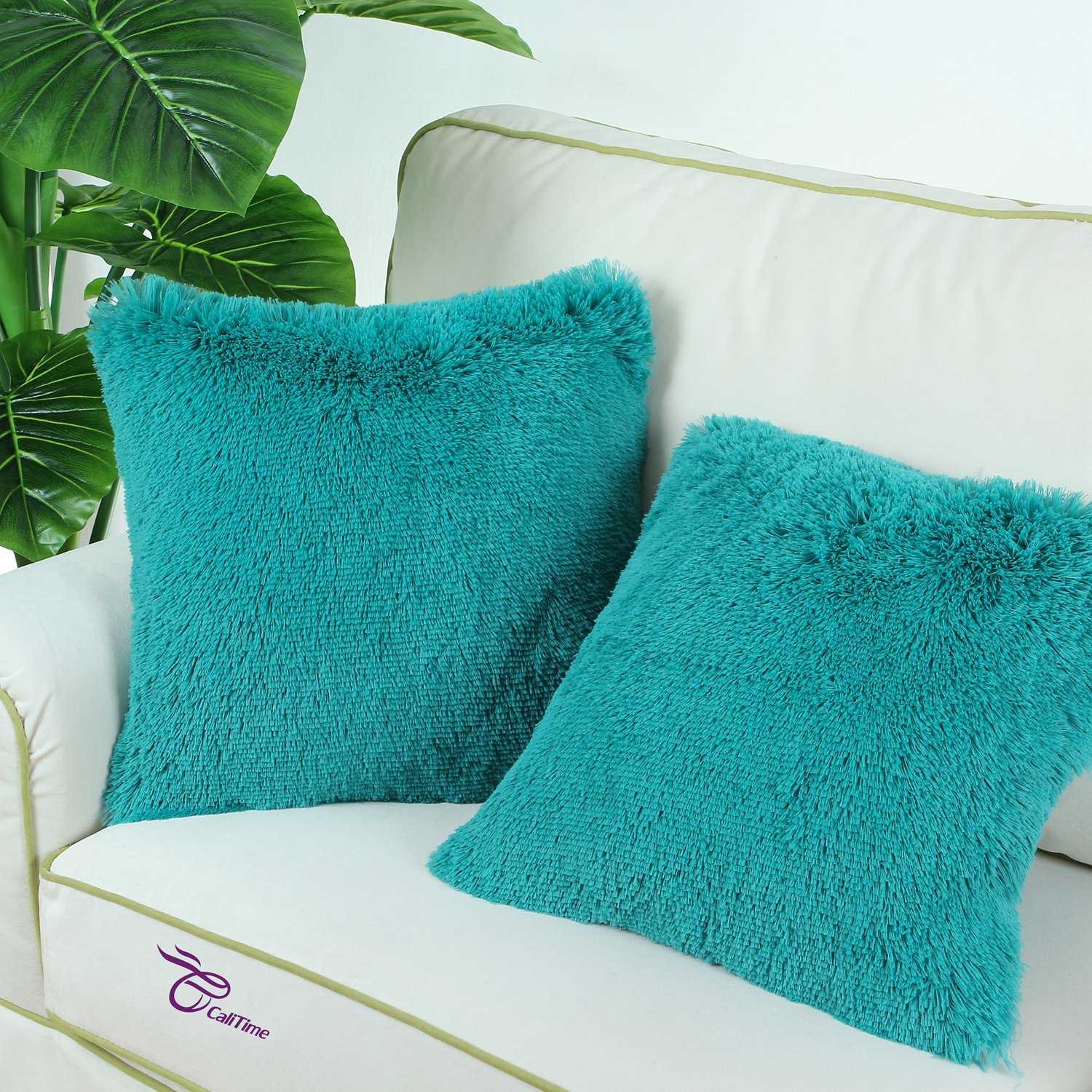 Amazon CaliTime Super Soft Throw Pillow Cover Case for Couch