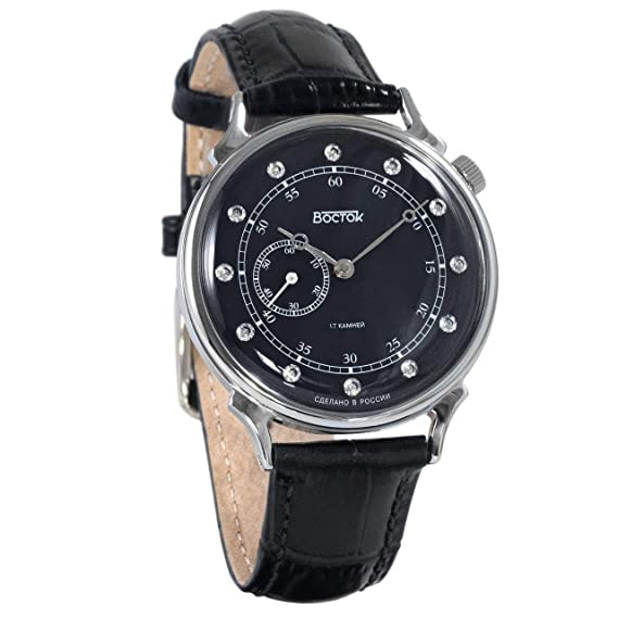 Vostok 581589 - Reloj de Pulsera mecánico con Esfera de circonita cúbica para Mujer: Amazon.es: Relojes