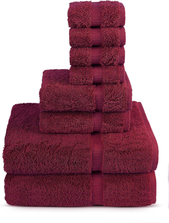 Turkuoise 8 Pieces Turkish Cotton Towel Sets