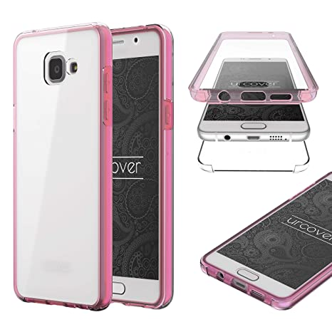 Urcover® Galaxy A5 2016 Funda Versión Mejorada Funda Carcasa Samsung Galaxy A5 2016 [Completa 360 Grados] TPU Crystal Clear Case suporto Qi Móvil ...