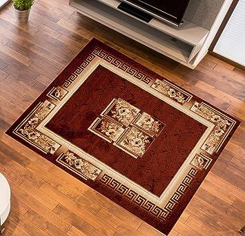 Amazon.de: Designer Teppich Mit Klassischen Muster Ins Wohnzimmer ... Teppich Wohnzimmer Grose