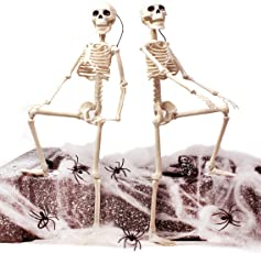 """Spooktacular Creations 2 Packs 16"""" Posable Halloween Skeletons 
