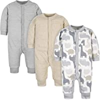Gerber Baby Boys' Organic 3-Pack Coverall Set