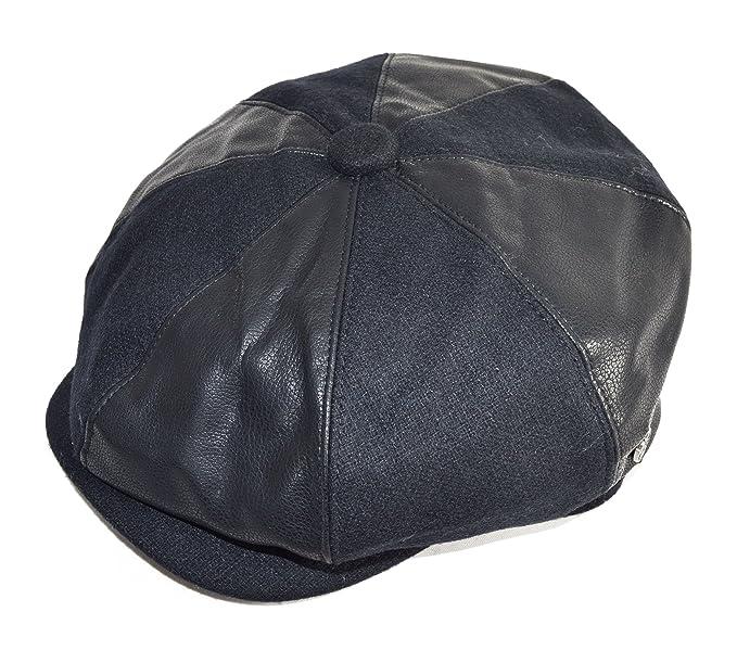 GFM Cappelli 8 Pannello misto lana e pelle sintetica cappello stile Gatsby Baker  Boy Multicoloured 61 999e96cd4c56