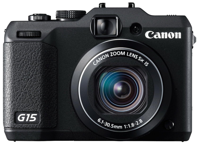 amazon com canon digital camera powershot g15 12 1mp f1 8 5x