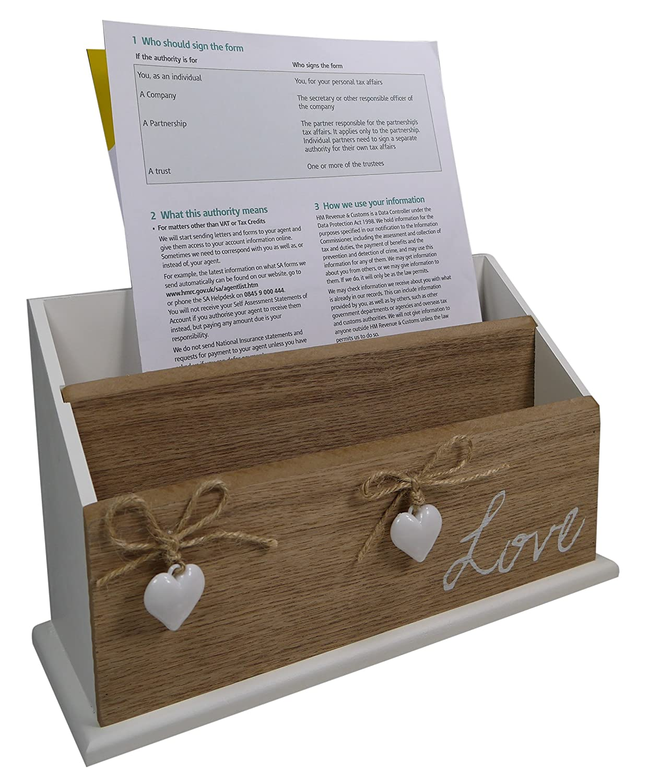 khevga Portalettere Post mensola Organizer Ufficio Bianco in legno
