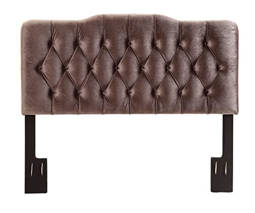 Pulaski Upholstered Soft Shape Headboard, King, Velvet Slate Grey