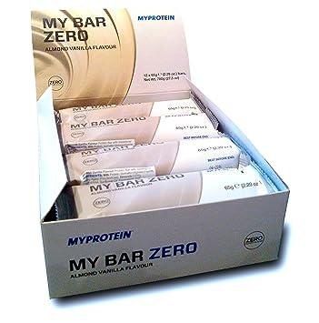 MyProtein Zero Barritas de Proteínas, Sabor Vainilla y Almendra - 12 Barras: Amazon.es: Salud y cuidado personal