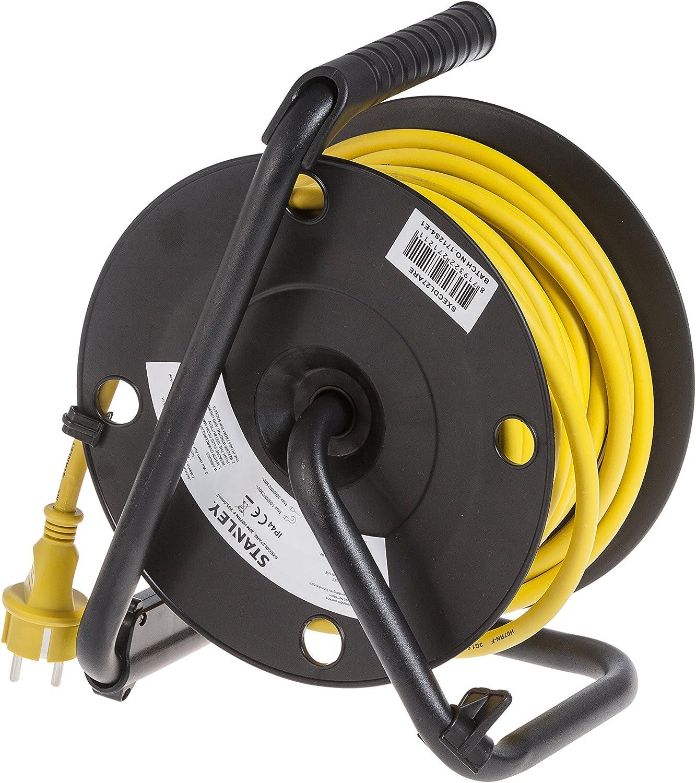 Stanley SXECDL26BSE Enrouleur de c/âble /électrique Noir