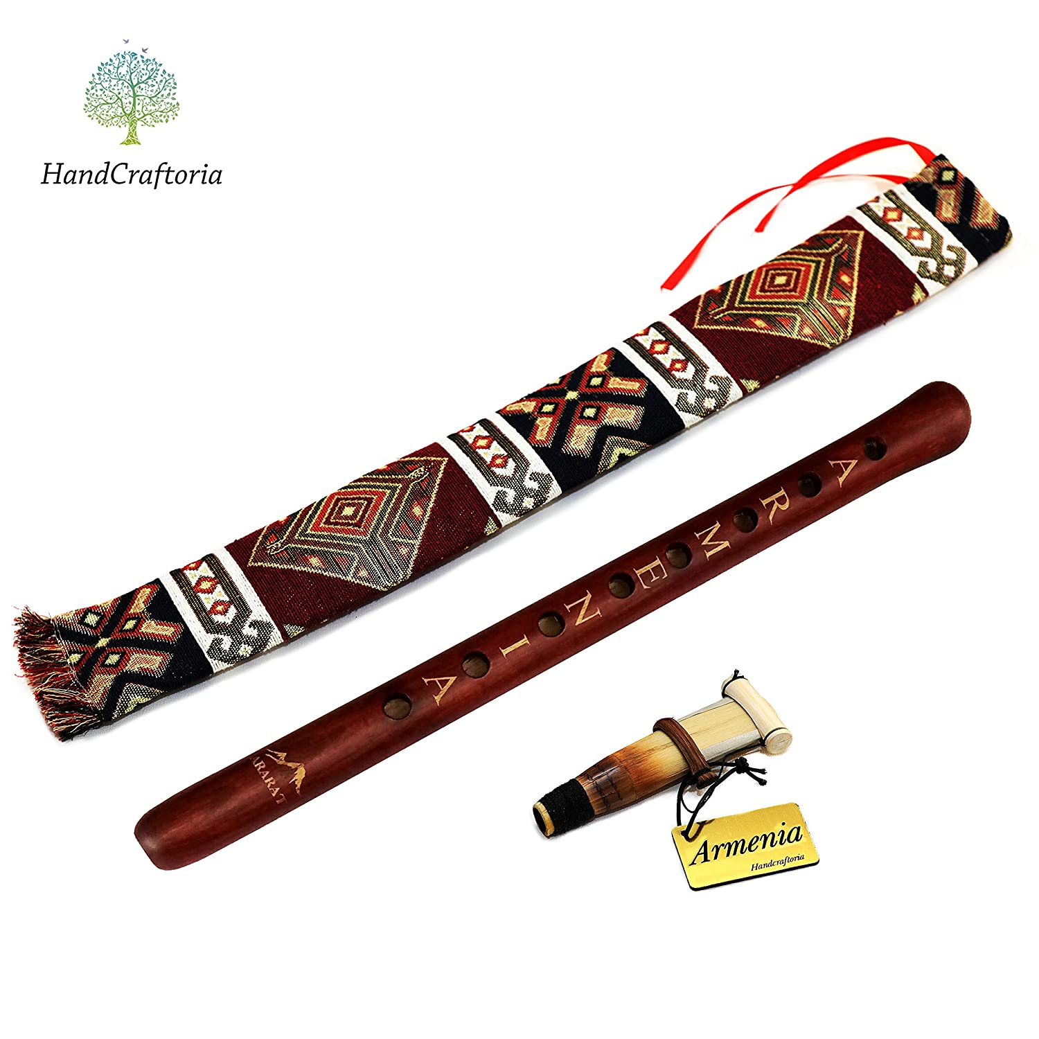 ARMENIAN DUDUK professional - handmade from ARMENIA - Oboe Balaban Woodwind Instrument Apricot Wood - Gift Armenian flute and National case - Playing Instruction Handcraftoria