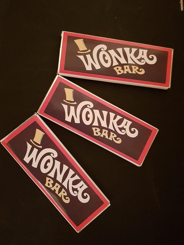 30 Custom Wonka Replica chocolate bars with golden ticket inside ...