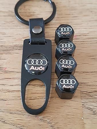NEU aus DE 4x Ventilkappen /& Schlüsselanhänger  mit AUDI Logo