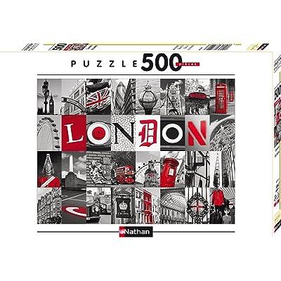 Nathan 87210 - Puzzle Classique - 500 Pièces - Souvenirs de Londres