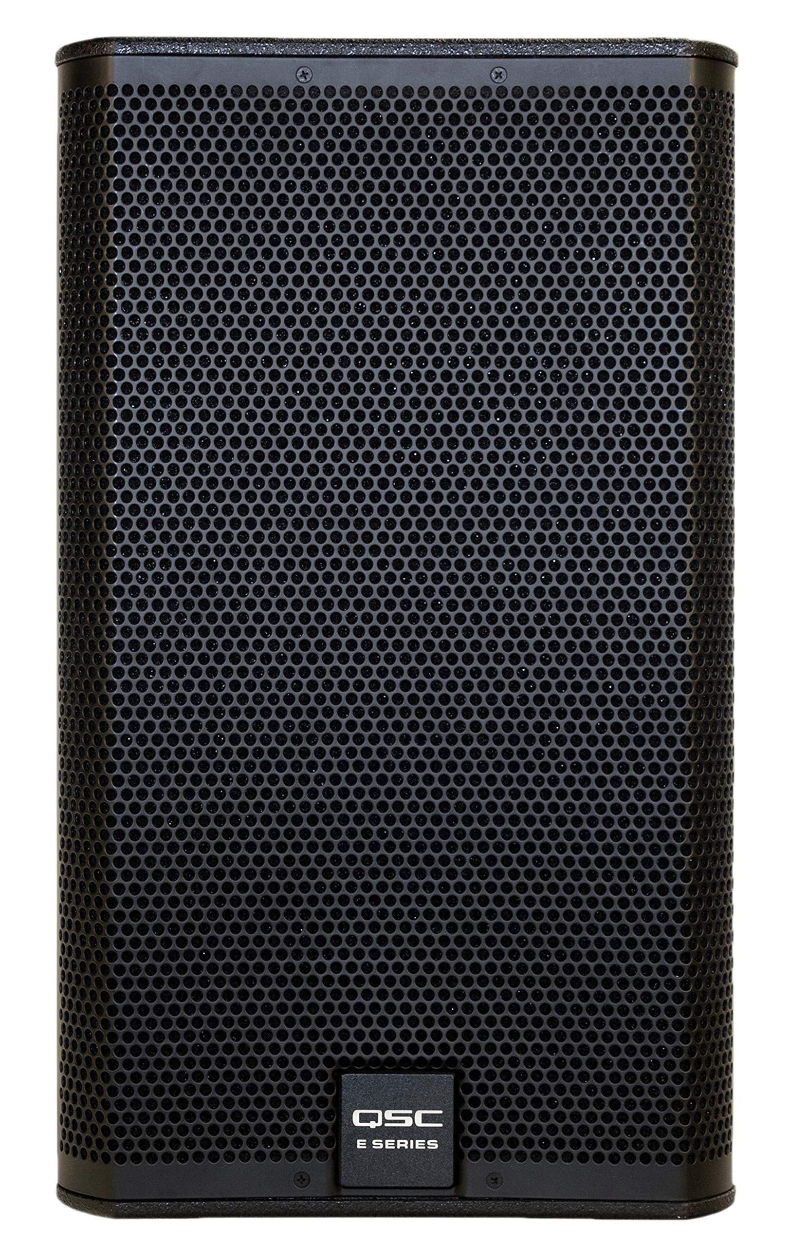QSC E112BK 12'' 400 Watt 2-Way Full Range Passive Loudspeaker by QSC