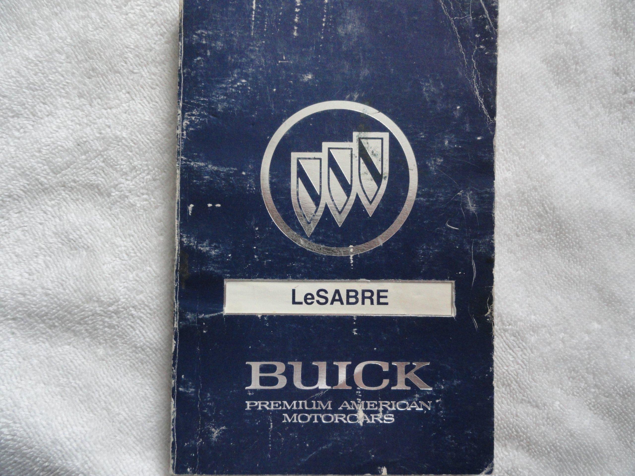 1990 buick lesabre owners manual buick amazon com books rh amazon com 1990 buick lesabre repair manual 1989 Buick LeSabre