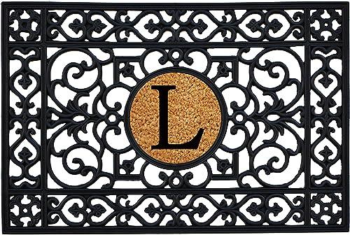 Calloway Mills 160012436L Rubber Monogram Insert Doormat, 2 x 3 Letter L