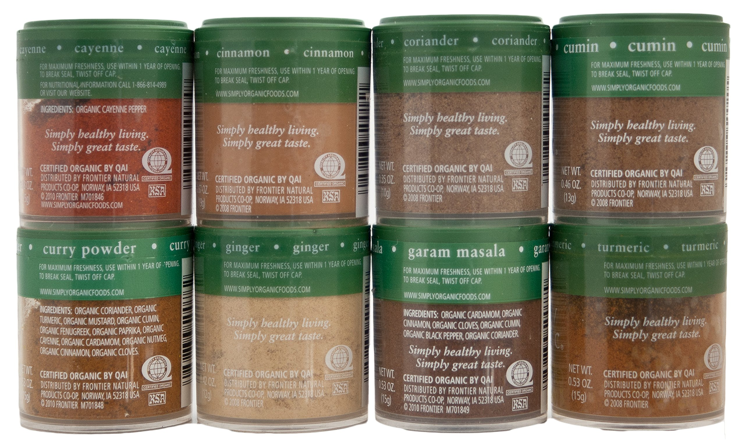Indian Spices Set From Simply Organic with 8 Spices by Simply Organic (Image #2)