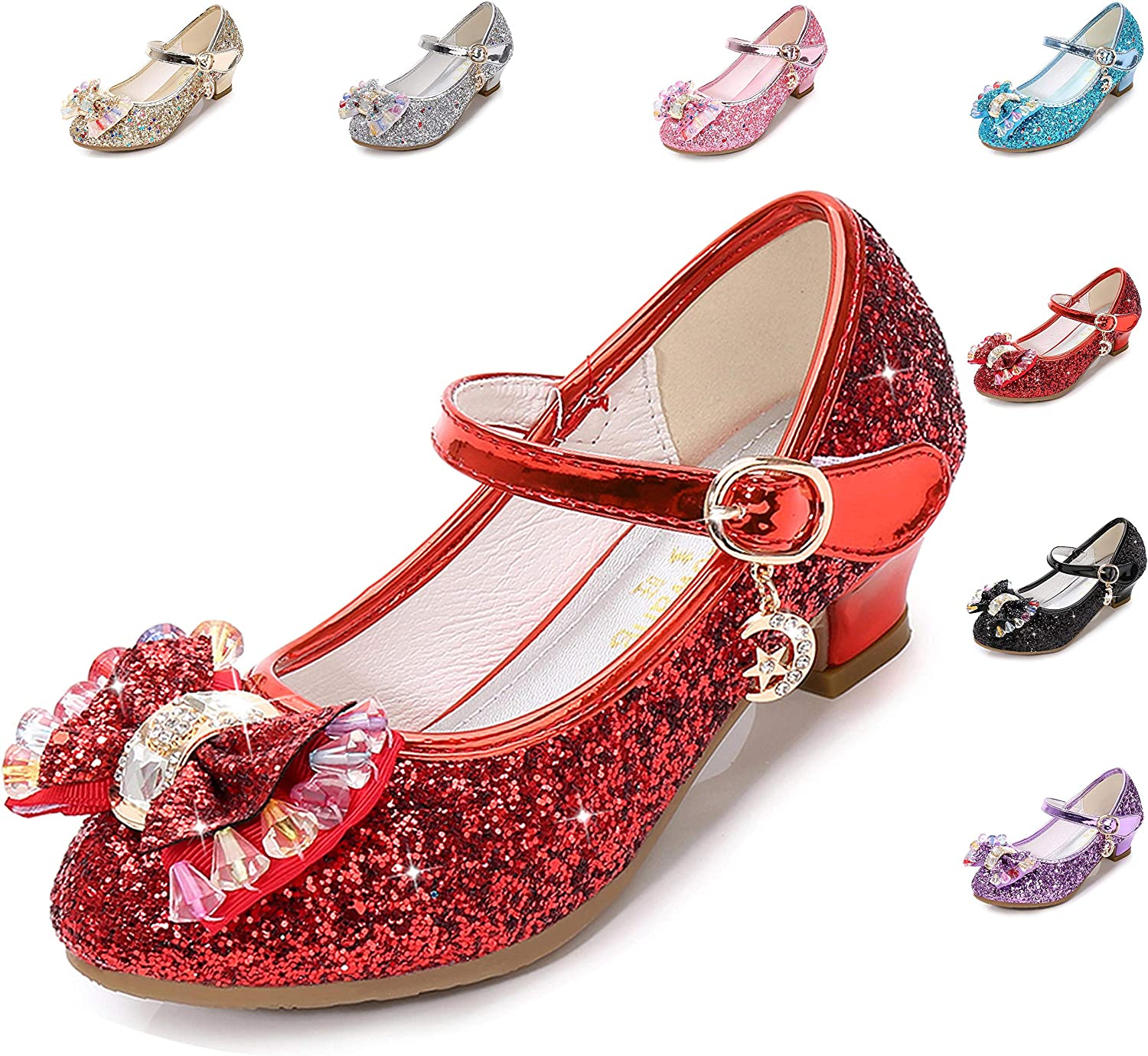 Little Girl's Adorable Sparkle Princess Party Shoes