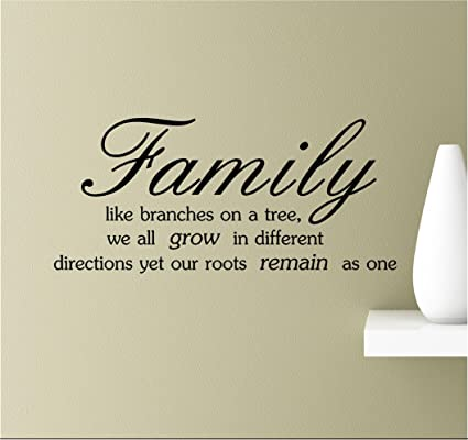 Amazoncom Family Like Branches On A Tree We All Grow In Different