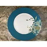 Amazon.com | 222 Fifth Eliza Teal Salad Plates, Set of 4, Paisley ...