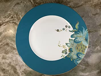 222 Fifth Eliza Teal Dinner Plates Set of 4 & Amazon.com | 222 Fifth Eliza Teal Dinner Plates Set of 4: Salad ...