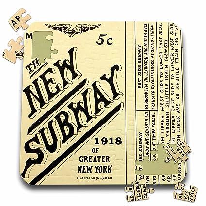 Old Ny Subway Map.Amazon Com New York Image Of 100 Year Old Subway Map Of New York