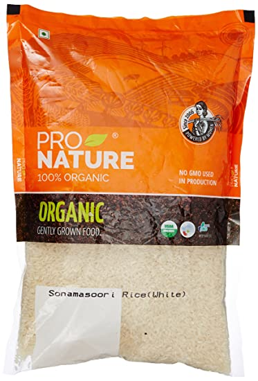 Pro Nature 100% Organic Sonamasoori Rice, 1kg