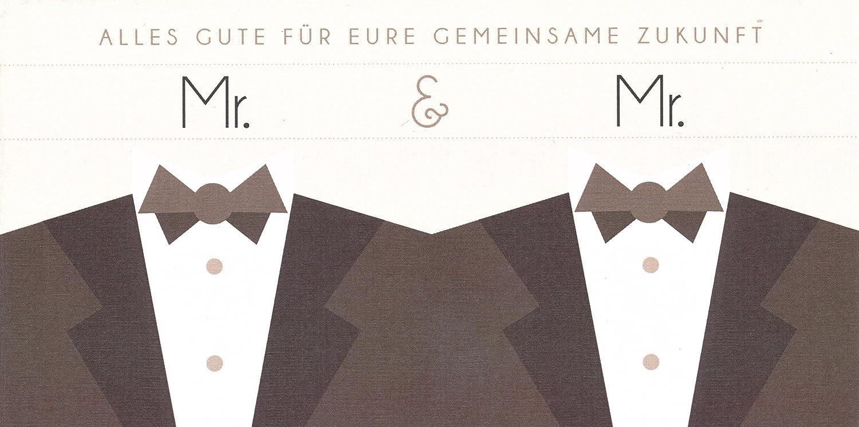 Hochwertige Hochzeitskarte Gluckwunschkarte Gleichgeschlechtlich