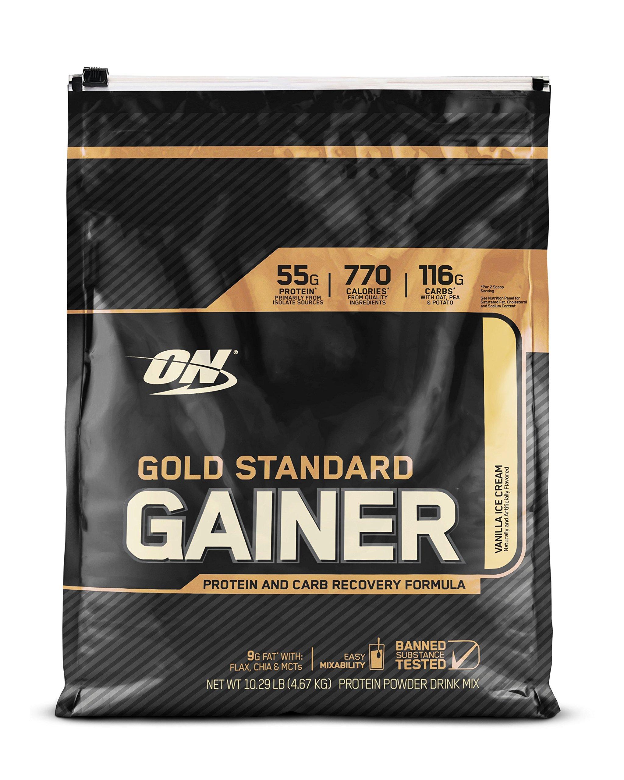 OPTIMUM NUTRITION Gold Standard Gainer, Vanilla Ice Cream, 10 Pound by Optimum Nutrition