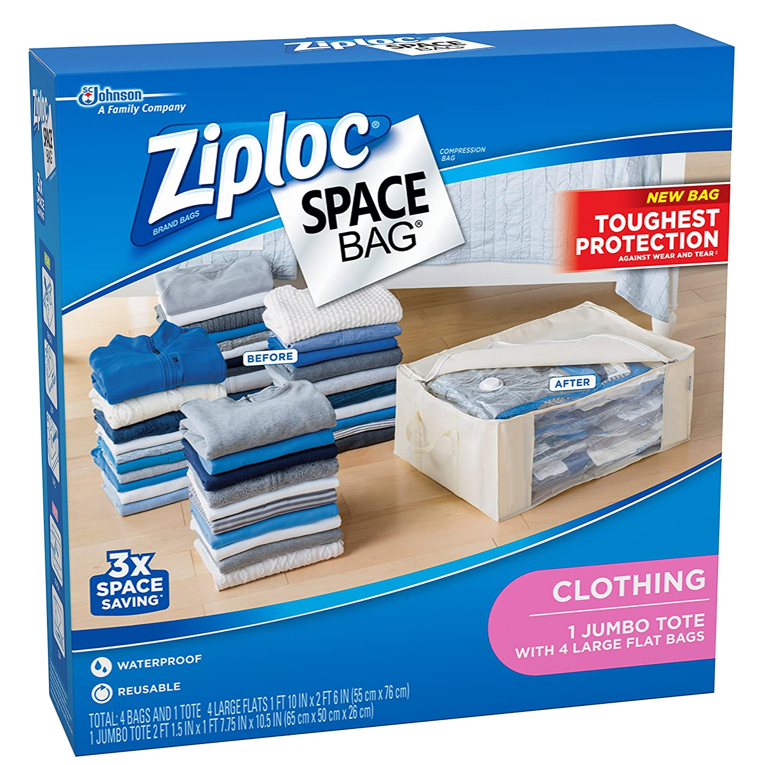 Amazon.com: Ziploc Space Bag 1 Tote Shell: Home \u0026 Kitchen