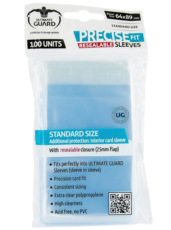 Ultimate Guard - Funda estándar Precise fit Sleeves Reutilizable, 64 x 89 mm (10311)