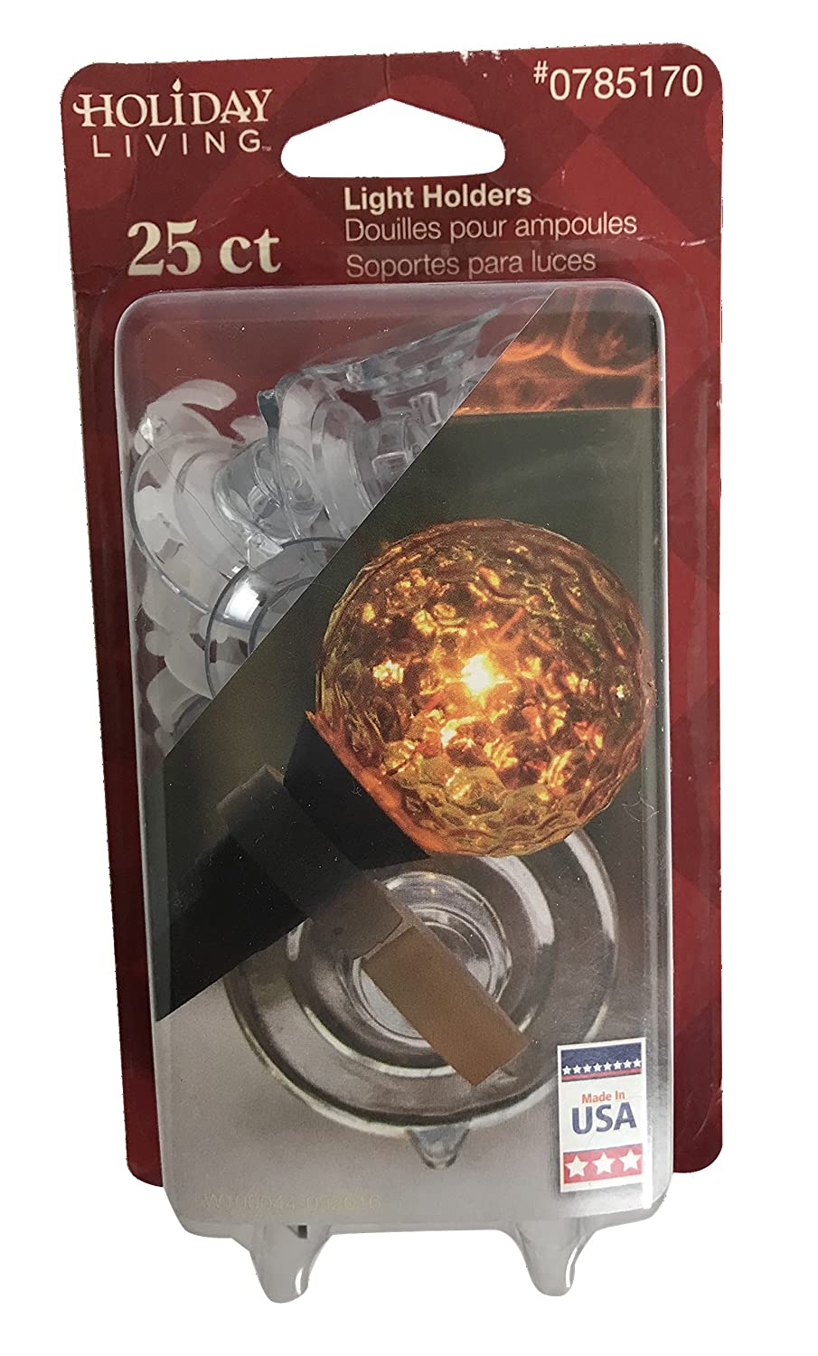 25 per pkg Holiday Living Christmas light suction cup holders
