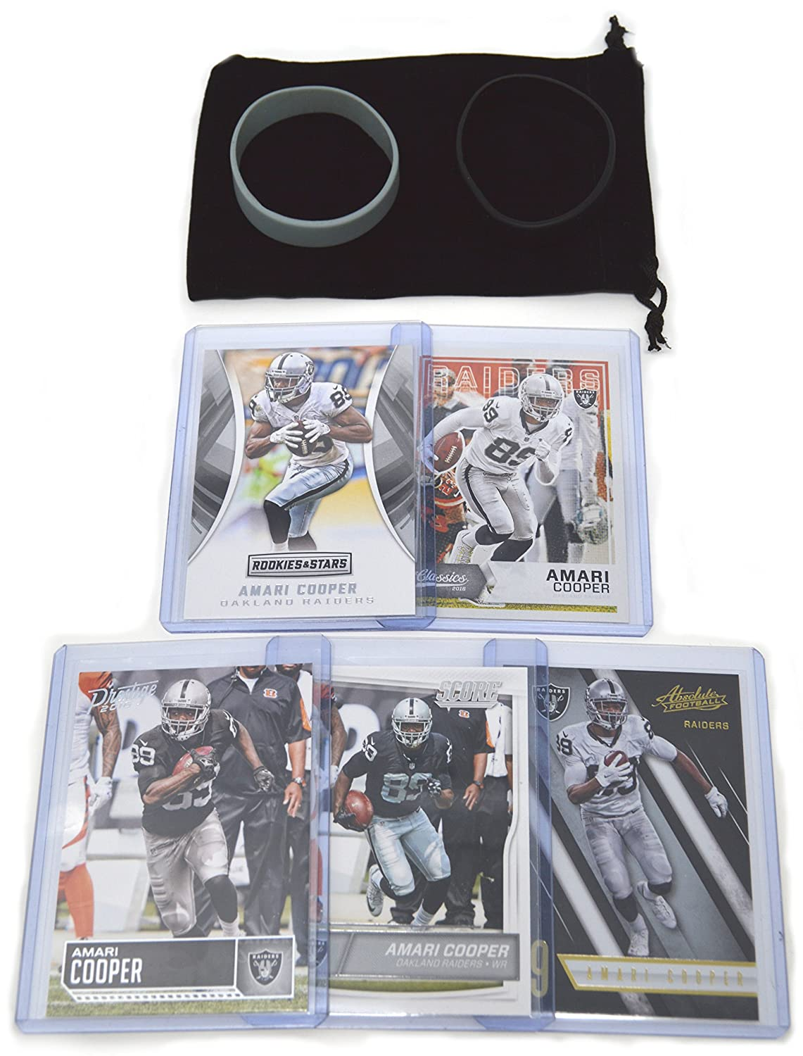 Amari Cooper Football Cards Assorted (5) Bundle - Oakland Raiders Las Vegas Trading Cards Panini Bowman Topps
