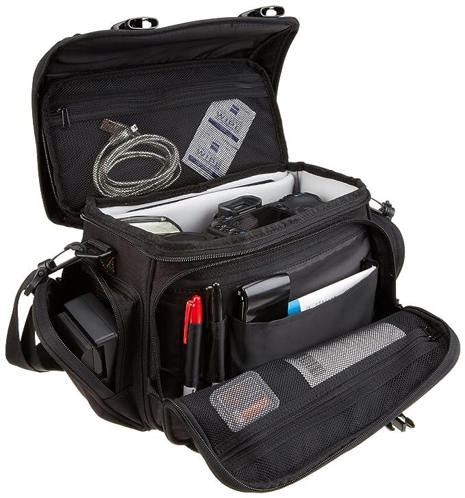 3cdbd6419 Amazon.com : AmazonBasics Large DSLR Camera Gadget Bag - 11.5 x 6 x 8  Inches, Black And Grey : Photographic Equipment Bags : Camera & Photo
