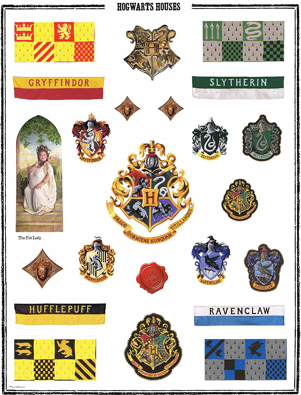 Harry Potter Blatt Mit Aufkleber Hogwarts Häuser