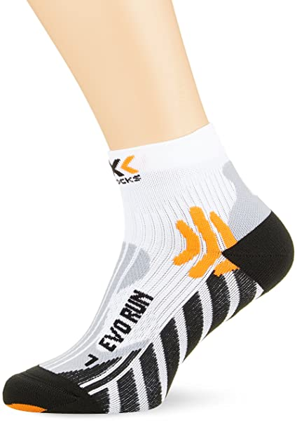 X-Socks Socken Evo Run - Calcetines para hombre, color blanco/negro,