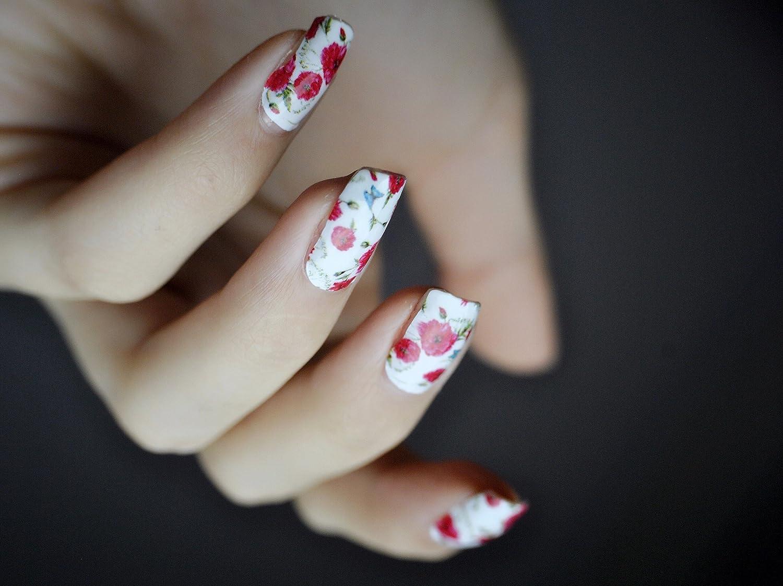 Miss Sophie\'s rot-weiß Nagel-Folien Red Poppy: Nagel-Design/Nailart ...