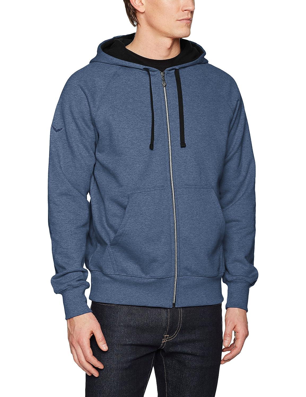 Trigema Herren Sweatjacke Kapuzen-Jacke Sweat-Qualität