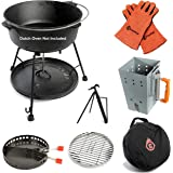 7-Piece Dutch Oven Tool Set – Award Winning Accessories Turn Your Cast Iron Pots Into a Grill, Smoker and Griddle – Lid…