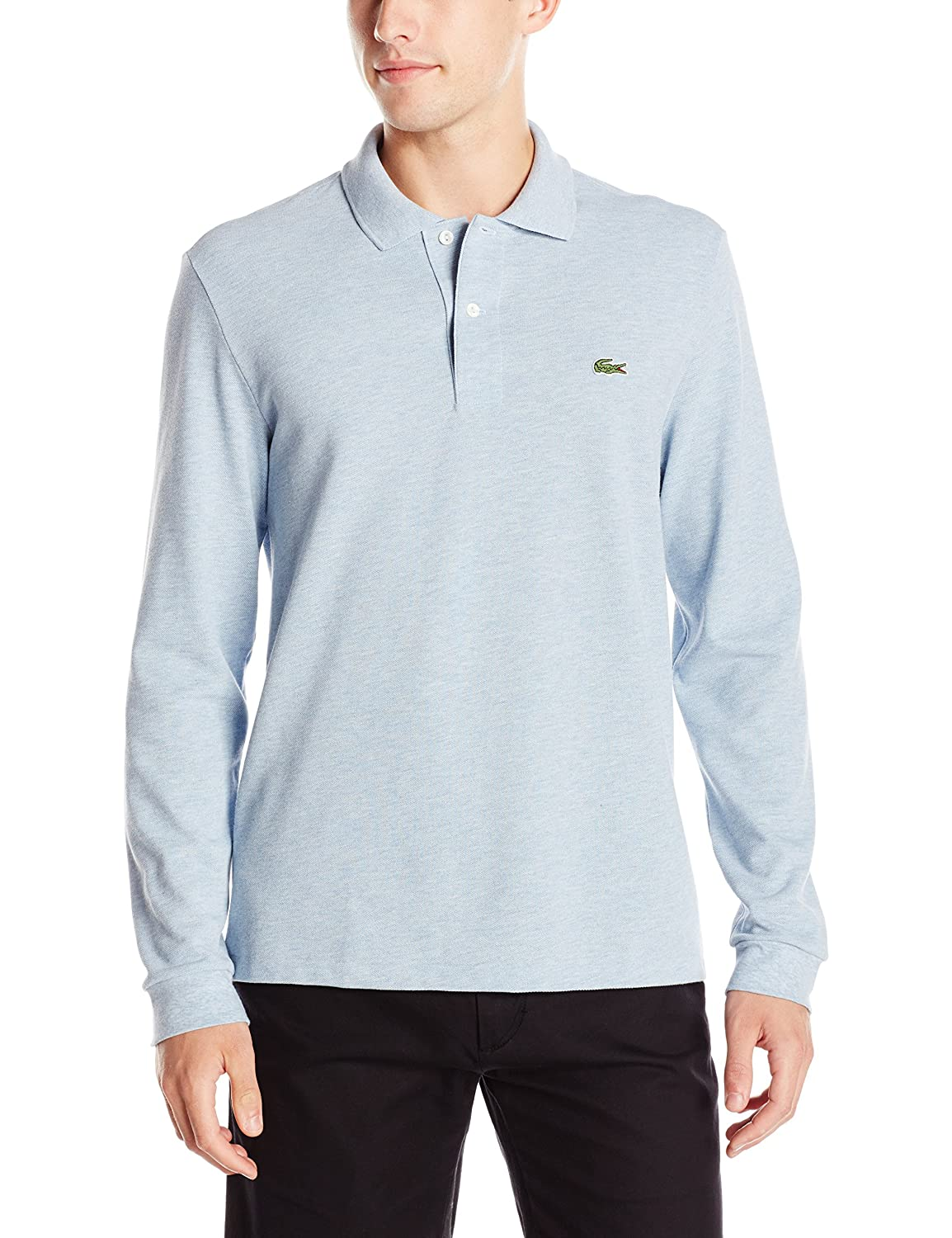 Lacoste Mens Long Sleeve Chine Classic Pique L.12.12 Original Fit Polo Shirt