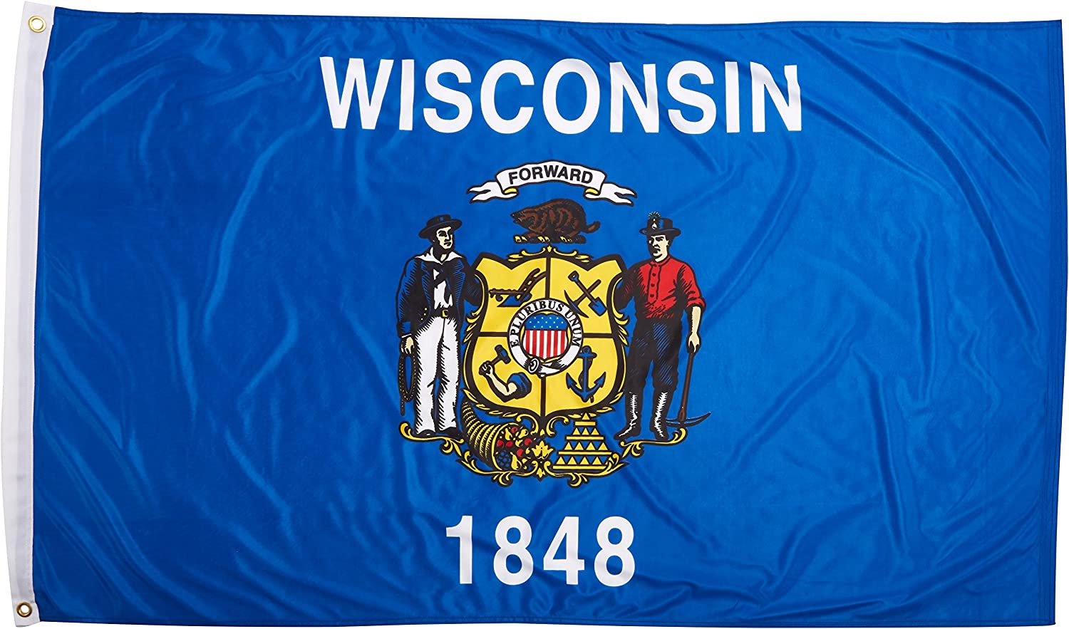 Online Stores Wisconsin Superknit Polyester Flag, 3 by 5-Feet