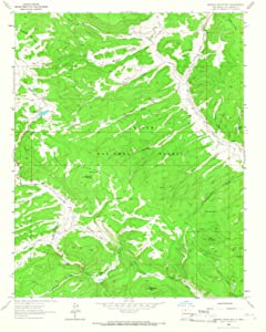 1963 Burned Mountain, NM - New Mexico - USGS Historical Topographic Map : 44in x 55in