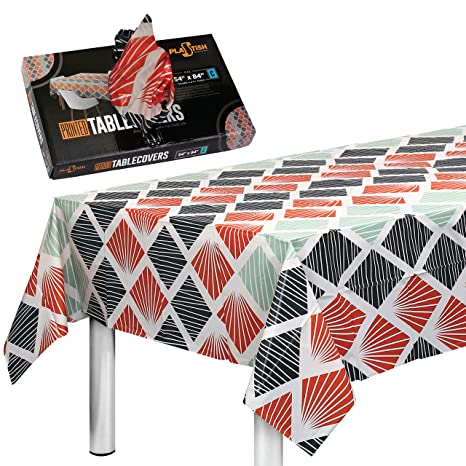 Amazon.com: plastish desechables fiesta mantel para mesas ...