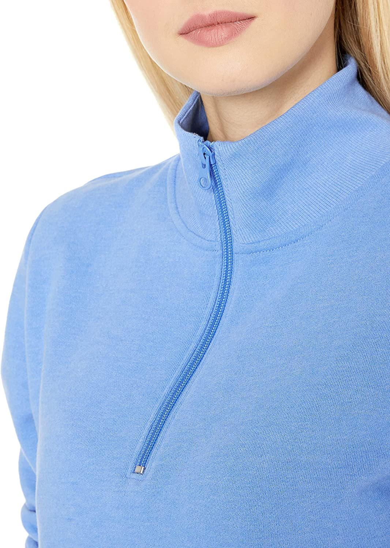 Essentials Camiseta de Manga Larga de Forro Polar de Rizo Franc/és Ligero con Cremallera Fleece-Outerwear-Jackets Mujer
