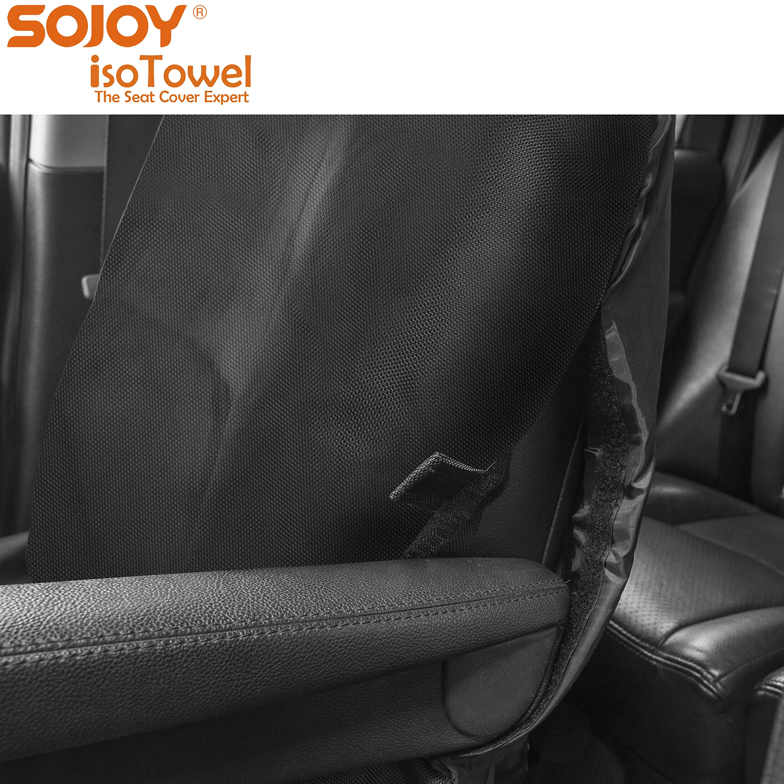 Sojoy Four Seasons Car Seat Cover - Microfiber Seat Protector with Quick-Dry, No-Slip Technology. Car Seat Protection from All Workouts, All-Weather (Black) by Sojoy (Image #3)