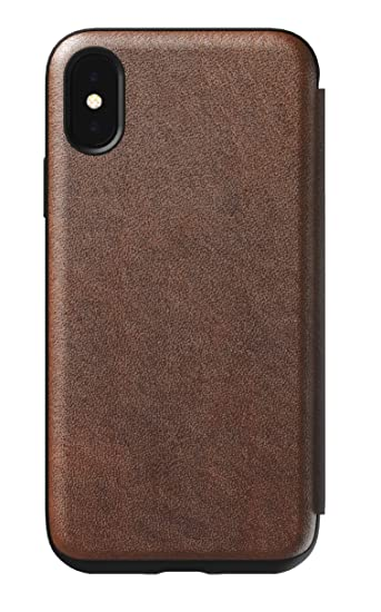 uk availability 6229e 3241d Nomad Folio Leather Case for iPhone X/XS | Rustic Brown