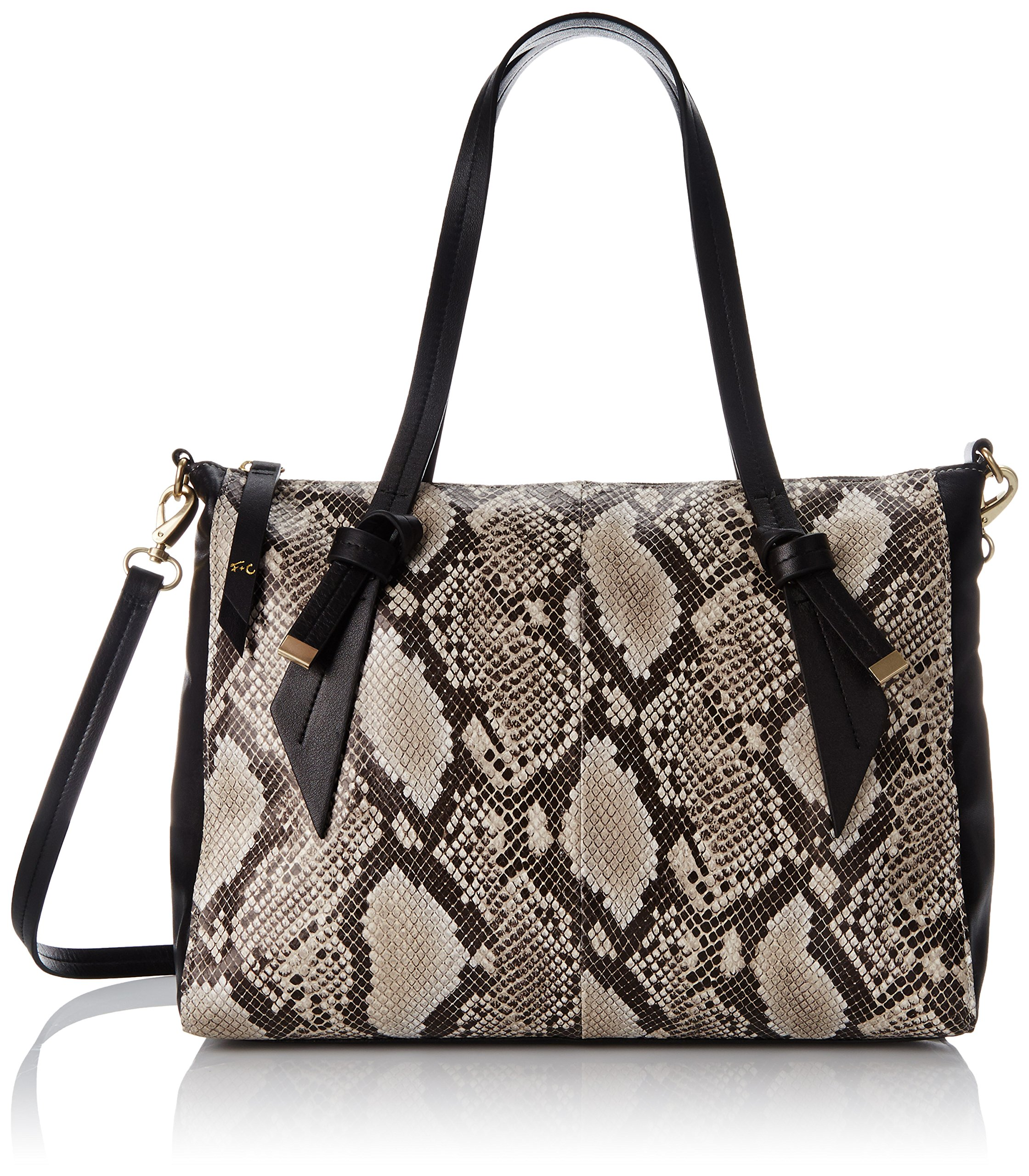 Foley + Corinna Bandeau Satchel Top Handle Bag, Diamond Snake Combo, One Size